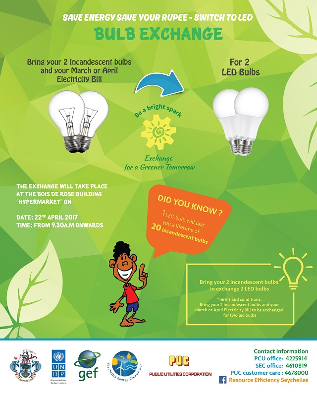 Free bulbs: 2 islands in Seychelles encouraged to embrace LED in weekend campaign
